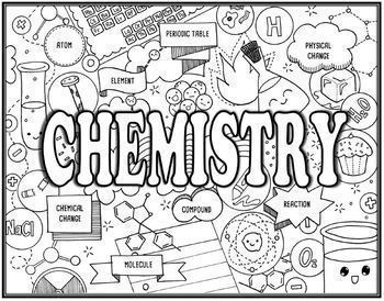 Chemistry Seek and Find Science Doodle Pages Bundle