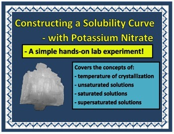 Chemistry - Solubility Curve using Potassium Nitrate