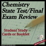 Chemistry State Test/Final Exam Student Study Cards