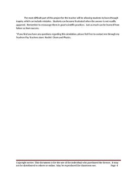 Chemistry Stoichiometry  Research & Development Simulation Lab