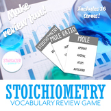 Chemistry Stoichiometry Vocabulary Review Game