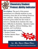 Chemistry Student Pretest: Ability Indicator