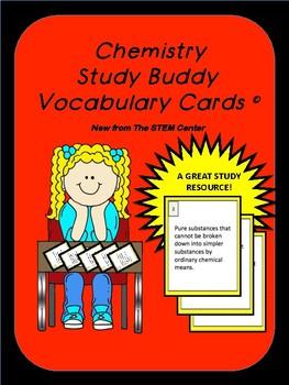 Chemistry Study Buddy Vocabulary Cards