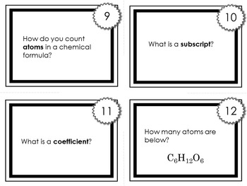 Chemistry Task Cards #2: Compounds & Elements