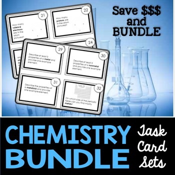 Chemistry Task Cards Bundle - Includes #1 and #2 at a Discounted Rate