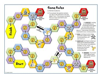 Chemistry Task Cards Game Board