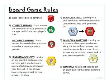 Chemistry Task Cards Game Board