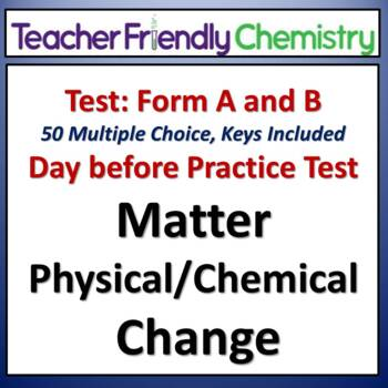 Chemistry Test and Practice Test: Matter and Change