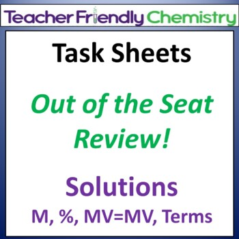 Chemistry: Test Review Task Sheets - Solutions