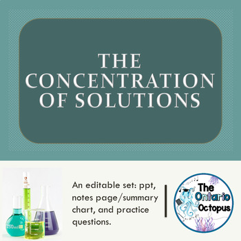 Chemistry - The Concentration of Solutions: 5 Ways to Describe Concentration