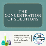 Chemistry - The Concentration of Solutions: 5 Ways to Desc