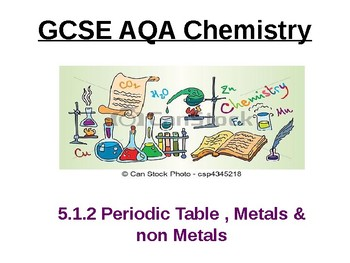 Chemistry - The periodic table, metals & non-metals 2017