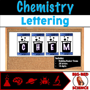Chemistry Themed Display Lettering