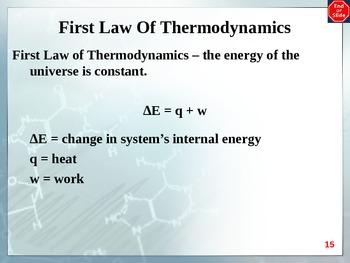 Chemistry - Thermochemistry PowerPoint
