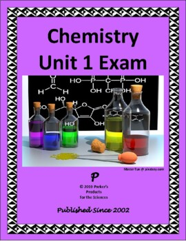 Chemistry Unit 1 Exam or Summative Study Guide