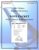 NGSS Regents Chemistry - Unit 1: Matter & Measurement (Complete Unit)