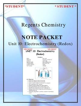 Chemistry - Unit 10: Electrochemistry (Redox) (Note Packet