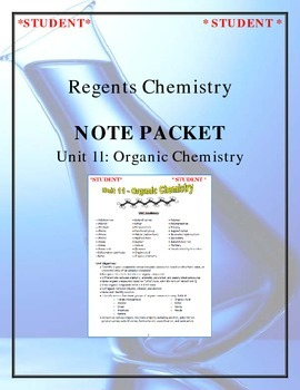 Chemistry - Unit 11: Organic Chemistry (Note Packet & Practice Packet)