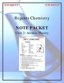 NGSS Regents Chemistry Note Packet - Unit 2: Atomic Theory