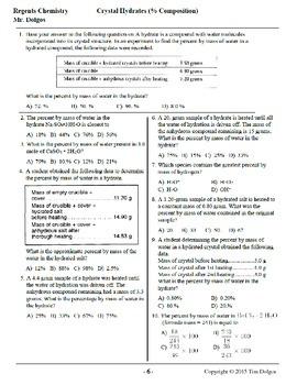 NGSS Regents Chemistry - Unit 5: Moles & Stoichiometry (Complete Unit)