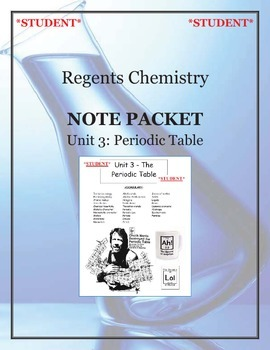 NGSS Regents Chemistry - Unit 3: Periodic Table (Complete Unit)