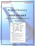 NGSS Regents Chemistry - Unit 6: Physical Behavior of Matt