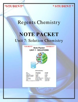 Chemistry - Unit 7: Solutions (Note Packet & Practice Packet)
