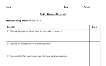 Chemistry Unit Assessment Bundle (NGSS-Aligned)