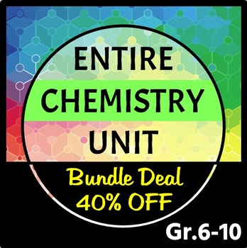 Chemistry Unit - Editable All in One Bundle - 66 Resources and Growing