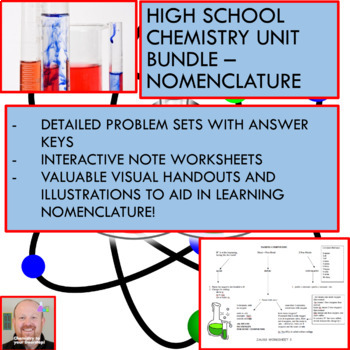 Chemistry Unit Bundle - Nomenclature for College Prep Chemistry!
