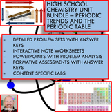 Chemistry Unit Bundle - Periodic Trends for High School Chemistry!