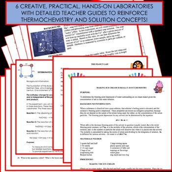 Chemistry Unit Bundle - Thermochemistry & Solutions for High School Chemistry!