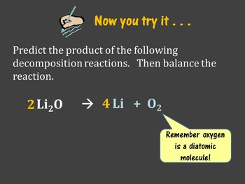 Chemistry Unit - Synthesis & Decomposition reactions