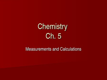 Chemistry Units and Significant Figures