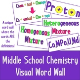 Chemistry Visual Word Wall - Middle School