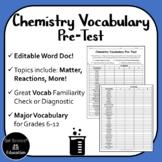 Chemistry Vocabulary Pre-Test