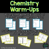 Chemistry Warm-Ups (Bell Ringers) - Distance Learning Compatible