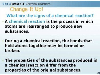 Chemistry Week 4 Lesson