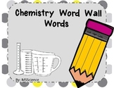 Chemistry  Word Wall Words