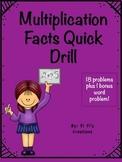Multiplication quick drill