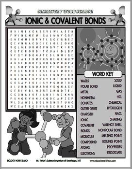 Chemistry Word Search Activities