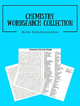 Chemistry Word Search Bundle