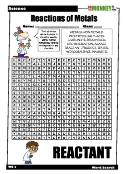Chemistry Word Searches