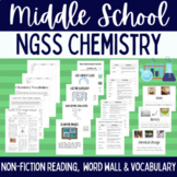 Chemistry Vocabulary & Non Fiction Reading Bundle with Word Wall & Worksheets