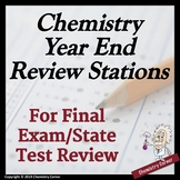 Chemistry Year-End Review Stations