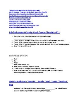Crash Course Lab Safety Worksheet Answers - worksheet