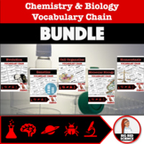 "Chemistry and Biology ""I have, who has?"" Vocabulary Chains BUNDLE"