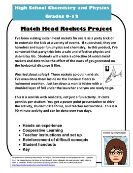 Chemistry and Physics: Match Head Rockets