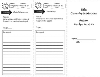 Chemistry in Medicine Trifold Unit 1 Third Grade Benchmark Literacy