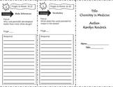 Chemistry in Medicine Trifold Unit 1 Third Grade Benchmark
